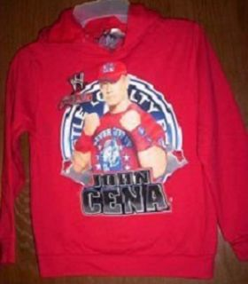 WWE John CENA Wrestling Sweatshirt HOODIE Jacket 4 5 NeW XS Red FREE