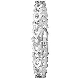 Dufonte Watch 73037SL Womens White Austrian Crystal Silver Dial