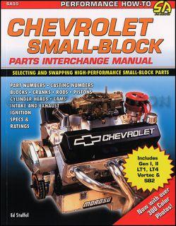 Chevy V8 Engine Parts Interchange Book 262 267 283 305 307 327 350 400
