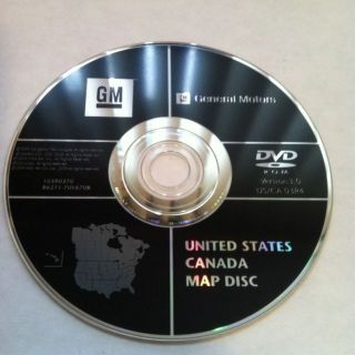 GM GMC Cadillac Hummer Buick GPS Navigation DVD Map 3 0