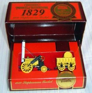 Matchbox 1929 Stephensons Rocket Steam Train Engine Y 12 COA Brand New