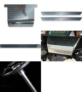 EZ Go TXT PDS Golf Cart Diamond Plate Accessory Combo Package