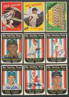 Lot of (150) 1959 Topps Baseball Signed Cards Auto Autograph