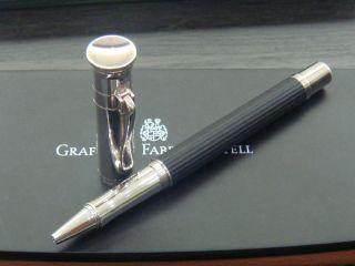 Graf Von Faber Castell Silver Plated Ebonywood RB