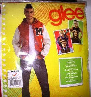 Glee Puck Jacket Wig Costume Mens Adult OSFM NIP
