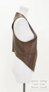 Graham Spencer Brown Leather Vest Size M