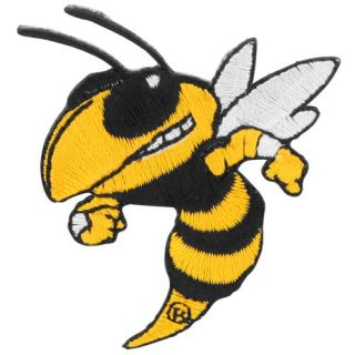 Georgia Tech Yellow Jackets Gold Black Embroidered Stick on Team Logo