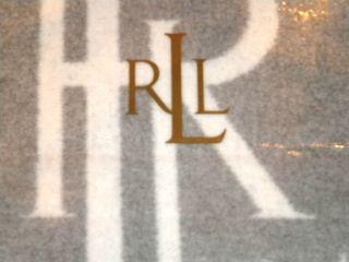 ralph lauren suite monogram throw blanket gray cream