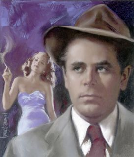 Harley Brown Original Published Art Glenn Ford Filmfax Cover 95 2003