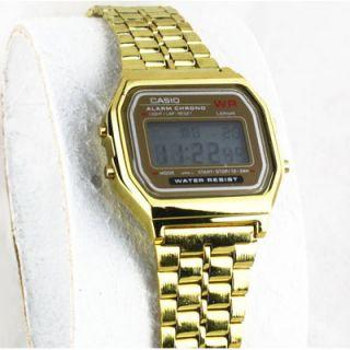 Gold Casio Retro Digital Wrist Watch Snapback Supreme Chain New