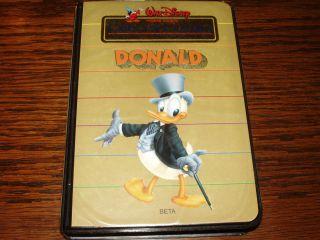 Walt Disney Cartoon Classics Limited Gold Donald Duck Beta 1984