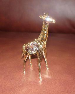 Giraffe 24K Gold Plated Figurine with Best Austrian Crystals Baby