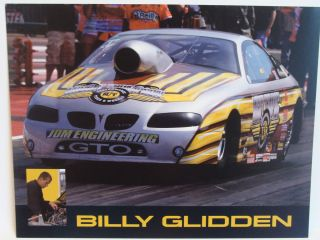 Billy Glidden Adrl Pro Stock Drag Racing Handout