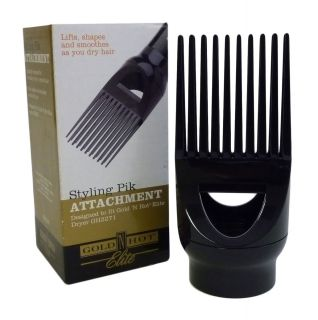 Gold N Hot Elite Styling PIK Hair Blow Dryer Attachment Lifts Shapes