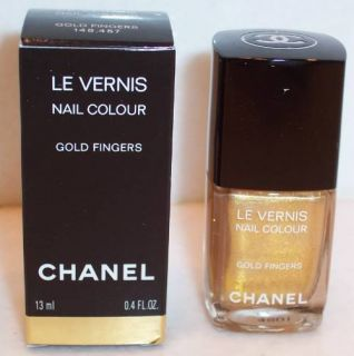 NEW CHANEL GOLD FINGERS Nail Polish Colour Le Vernis Las Vegas Limited