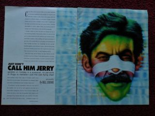 1989 Magazine Article Geraldo Rivera by Bill Zehme w Ed Paschke Art