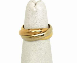 Cartier 18K Tri Color Gold Trinity Rolling Band Ring Size 50 US 5 1 4