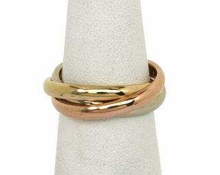Tiffany Co Tri Color 14k Trinity Rolling Band Ring