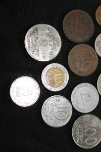 Israel Palestine Israeli Coin Lot of 13 include 1 Medal Some Old Mils