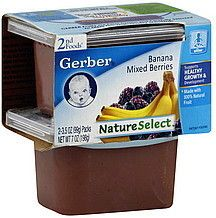 Lot of 12 Gerber Baby Food 12 Packs of 2 3 5 oz Packs Bananas Berries