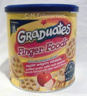 Gerber Graduates Finger Foods Apple Wagon Wheels