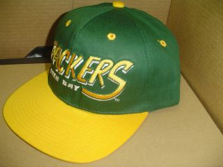 Green Bay Packers NFL Snapback 1 Size Vtg Style Green Adult Cotton Hat