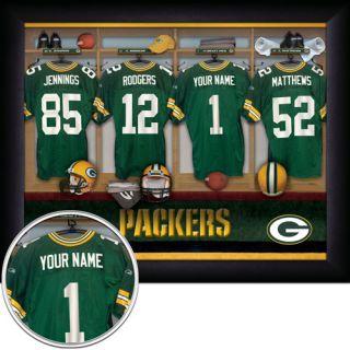 Officially Licensed NFL All Teams Locker Room Prints 11x14 Frame