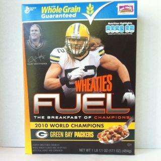 Green Bay Packers World Champion Clay Matthews Wheaties Fuel Box
