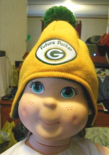 Green Bay Packers Baby Fleeced lined Knit Beanie Hat with flaps NFL