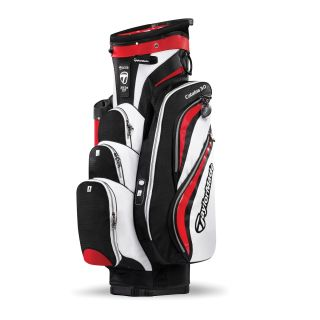 New TaylorMade Catalina 3 0 Black White Red Golf Cart Bag