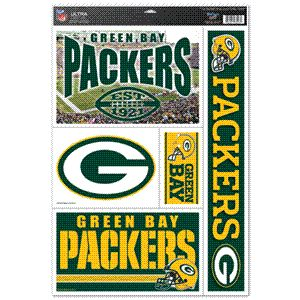 Green Bay Packers NFL Football 11 x 17 Ultra Clings Decal New