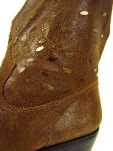 brown vintage collection NINE WEST GERTRUDE ankle western boots sz 8 M