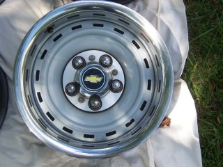Classic 5 Lug Chevy Rally Wheels Fits 1992 Vans Trucks