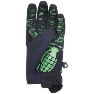 New Grenade Lizard Green 2012 Snowboard Ski Gloves Mens s M L XL Ride