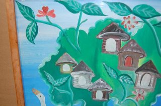 This is a very beautiful, unique and vintage ART HAITI GERARD PAUL