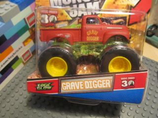 Hot Wheels Monster Jam Truck Grave Digger Diecast Edge Glow 30th Anniv
