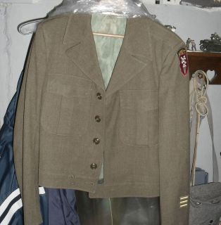 GI OD Wool Uniform IKE Jacket Size 38R, with Airborne Patch