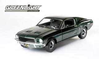 Greenlight Collectibles Ford Mustang Bullitt Green 1 18 Scale Steve