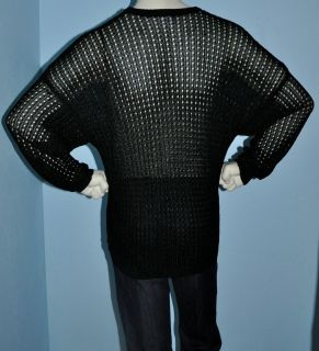 Gianni Versace Black Open Knit Sweater Size 48