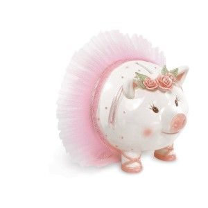 Ballerina Ballet Baby Girls Coin Piggy Bank Ceramic Jumbo Large