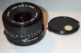 Used Canon FD mount 28mm F2.8 manual focus wide angle lens, very good