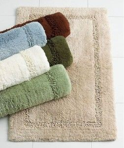 Lenox Platinum Bath Mat Solid Dark Green Forest Bamboo Cotton Rug Moss