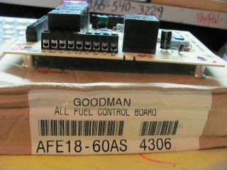 Goodman AFE18 60AS All Fuel Control Board Combination Gas Furnace Heat
