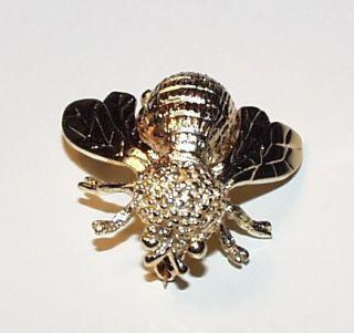 Gold Honey Bee 14kt Brooch Sunlight Pin