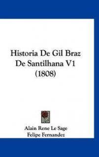 Historia de Gil Braz de Santilhana V1 1808 New 1160939977