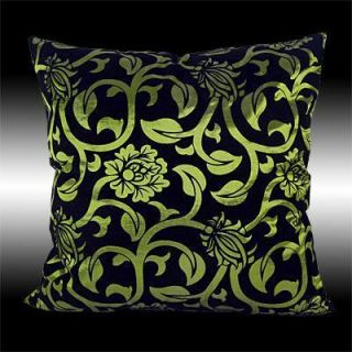 Black Flock Green Throw Pillow Case Cushion Covers 17