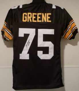 Joe Greene Pittsburgh Steelers Autographed Signed Black Size XL Jersey