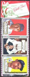 1952 Topps Pack with Low Black Backs Christmas Xmas Cello Rack Packs