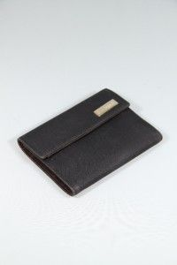 Fendi Italian Black Gros Grain Fabric Wallet Coin Purse