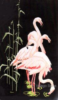 Thea Gouverneur Counted Cross Stitch Kit 26 x 15 Flamingo Sale 1070